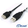 ktnet USB2.0 A公轉A母1.8米延長線opp袋裝