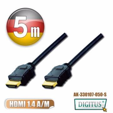 DIGITUS HDMI 1.4a圓線5公尺typeA