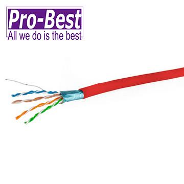 PRO-BEST CAT.5E 網路遮蔽線305M 紅