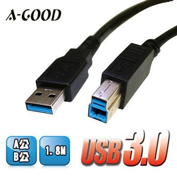USB3.0 A公B公 高速傳輸線 USB延長線 (1.8米)