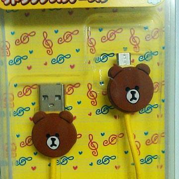熊大Micro USB傳輸線