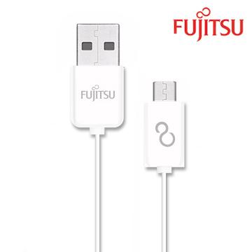 FUJITSU富士通MICRO USB傳輸充電線-1M(白)UM100(白)