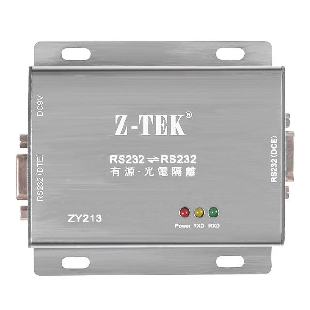 Z-TEK力特 RS232 轉RS232 光電隔離器(ZY213).