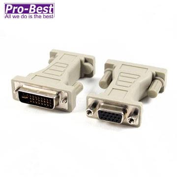 PRO BEST DVI-I-VGA/DVI(29M15F)   轉接頭-1入
