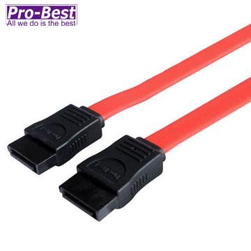 PRO-BEST SATA1排線,180度對180度-100CM 紅色