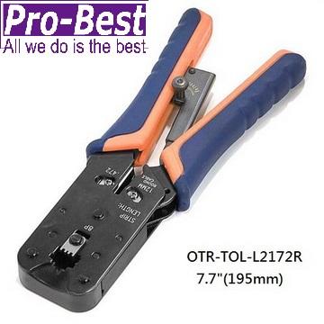 PRO-BEST 電話網路線端子壓著鉗(OTR-TOL-L2172R)
