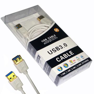 FIRSTCOM USB3.0 Cable A公A母延長線1.5米(鍍金接頭)