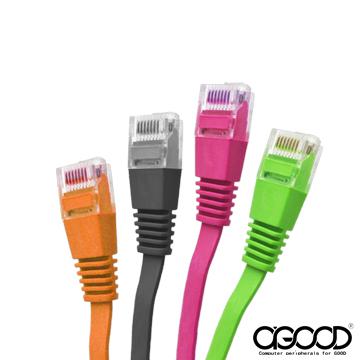 【A-GOOD】彩色超高扁平網路線 CAT.6 2M