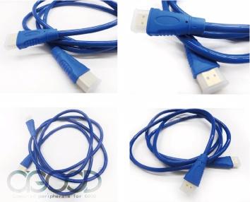【A-GOOD】HDMI 高畫質影音傳輸繽紛亮面圓線 1.8M - 清澈藍