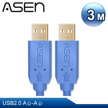 《↘下殺限時特賣》ASEN USB AVANZATO工業級傳輸線(USB 2.0 A公對A公) - 3M