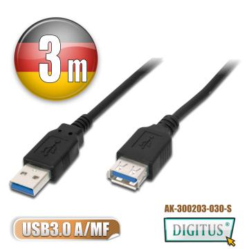DIGITUS曜兆USB3.0A公轉A母線(USB3延長用)*3公尺