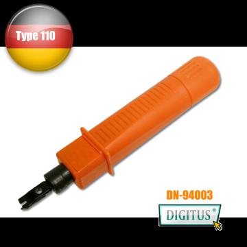曜兆DIGITUS專業資訊插座打線押線工具Punch tool(110型) -德國進口專業工具品質保證