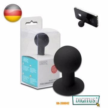 曜兆DIGITUS手機平板乳膠吸盤式站立架黑色