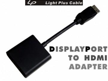 LPC-527 新版Displayport(公) TO HDMI(母) 轉接器(with AUDIO)(((DisplayPort轉HDMI升級4k)))