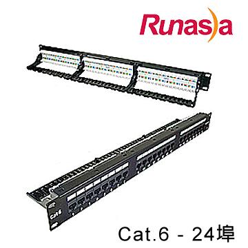 Runasia 六類(Cat.6)無遮蔽跳線面板 (TP06124)