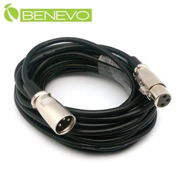 BENEVO 8M XLR(Cannon接頭)公對母音訊連接線/麥克風延長線 (BAU0800XMF)
