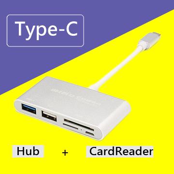 Type-C 多功能USB3.0 Hub讀卡機(T-693)
