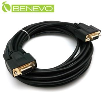 BENEVO專業交叉型 5M 母對母鍍金接頭RS232串列埠訊號連接線 (BRS0500FFXG)