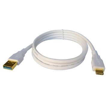 FIRSTCOM USB3.0 A公 to Type-C公充電傳輸線3米(鍍金接頭)