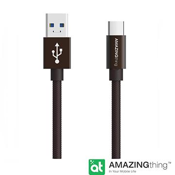 for USB Type C  AmazingThing USB Type C 快速充電傳輸線(3M/鐵灰)