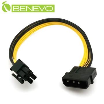 BENEVO PCI-E顯卡用 4PIN(D型)電源轉接6PIN電源供電線(鍍錫純銅) [BP4P26P(鍍錫純銅)]