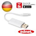 曜兆EDNET iPhone USB3.1讀卡擴充iOS電腦Apple Lighting充電線(銀色)