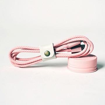 【療育系包裝馬卡龍糖果色】Micro USB馬卡龍罐子傳輸線-柿紅色 數據線