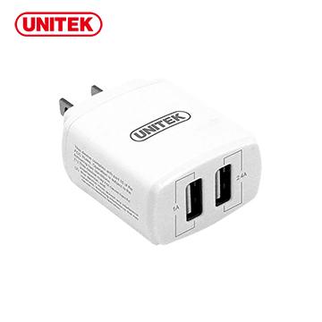 UNITEK 優越者17W2埠旅行充電器(Y-P547)