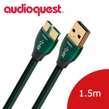 美國線聖Audioquest USB-Digital Audio 3.0 Forest傳輸線(A↔Micro)1.5M