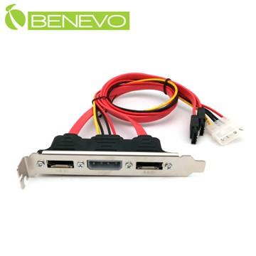 BENEVO機箱擋板型 50cm 2埠eSATA+IDE電源擴充連接線 (BSATA0052MFFP)