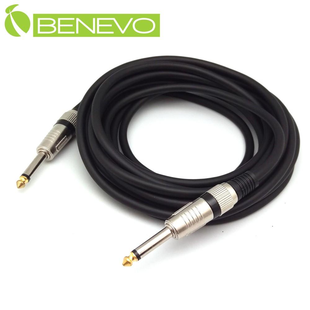 BENEVO 5M TS型式6.3mm公對公單聲道/非平衡聲音連接線