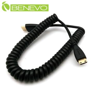 BENEVO 50cm Mini HDMI轉HDMI影音連接線 [BHDMINI040(彈簧線)]