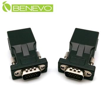 BENEVO簡易網線型 VGA延伸轉接套件(公對公)