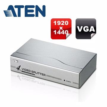 ATEN 4埠VGA視訊/螢幕分配器VS94A