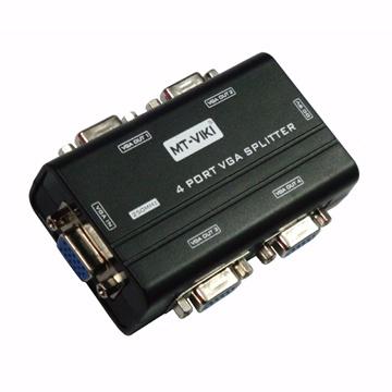 限量好康特賣推薦~4 Port VGA Splitter視訊分配器(贈VGA公對公線一條)