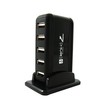 ★破盤最低價★Bravo-u USB 2.0 7埠 HUB集線器 (黑)