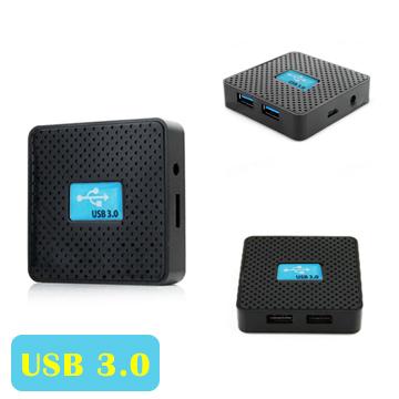 ★限時下殺85折★4 Port USB 3.0 HUB 鋁合金集線器(黑色)