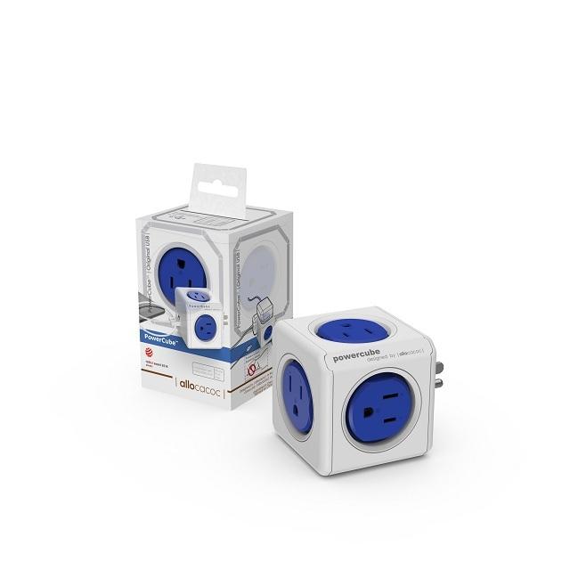 ◤充電必備◢ 【PowerCube】USB擴充插座(藍色)藍→雙USB、4插座3孔