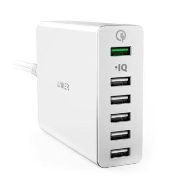 Anker PowerPort+ 6 QC3.060W 6口充電器(白色)