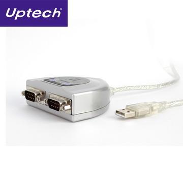Uptech USB to 2-Port RS-232訊號轉換器 - UTN412
