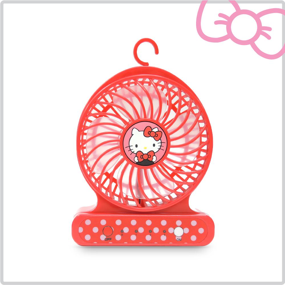 Hello Kitty隨身強力小風扇-甜心紅 KT-FN01R