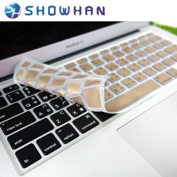 ★五折下殺★【SHOWHAN】Apple MacBook Air 11吋中文鍵盤保護膜 金色