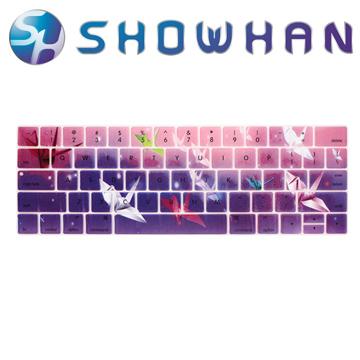 ★五折下殺★【SHOWHAN】Apple MacBook Pro Touch Bar 13吋英文鍵盤膜 千紙鶴