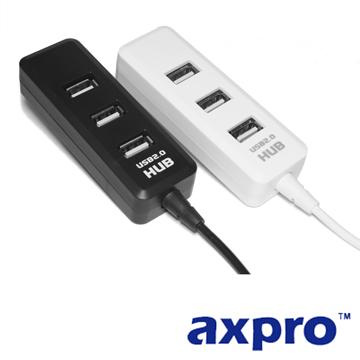 AXPRO華艦 USB2.0 四星彩4-port集線器 (AXP824)