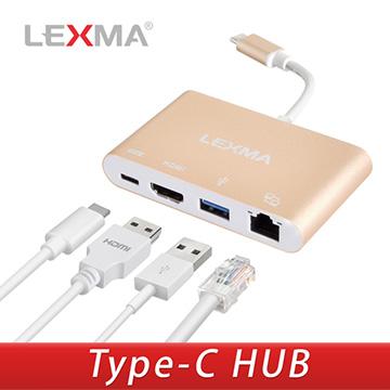 完美相容於MACBOOK與各式Type-C筆電▼適用於各式Typec接孔筆電▼LEXMA USB-C四合一轉接器