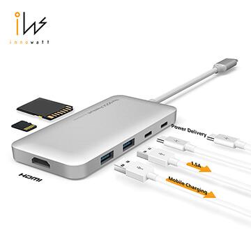 The DOCK Premium_Type-C Combo Hub 七合一多功能充電傳輸集線器