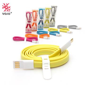 VOJO+ Micro USB 彩色傳輸扁線(萊姆綠)-1.2M -★一年保固 品質有保證 可安心購買