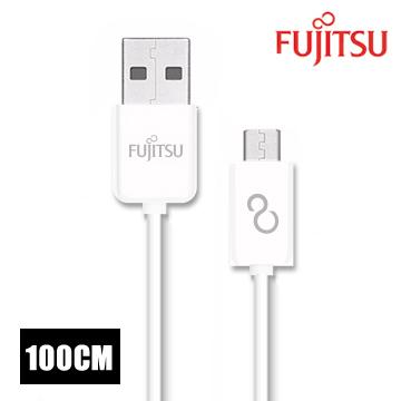 FUJITSU富士通MICRO USB傳輸充電圓線-100CM(白)  UM110-2(白)