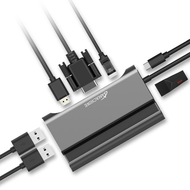 Amachine 七合一多功能擴充埠 PD充電/USB-C擴充