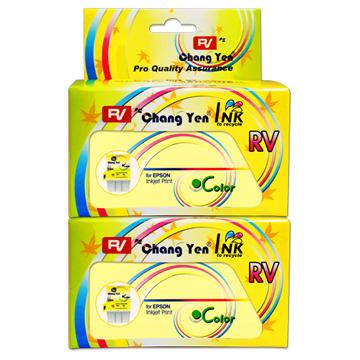 RV For EPSON T018051 (彩色) 相容墨水匣2入台灣生產(美國原料)